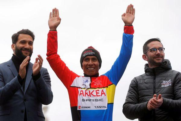 15/02/2020. 4ème jour de l'épreuve avec l'arrivée à Aix-en-Provence, Nairo Quintana (team Arkea Samsic) vainqueur au classement général final.