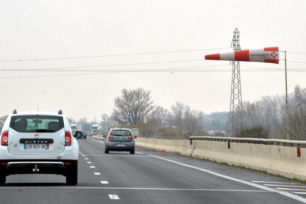 Vitesse limitée sur l'A9 et l'A61 en raison des vents violents - 3 février 2019