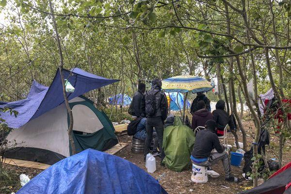 Un campement à Calais.