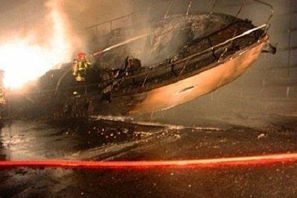 Les bateaux détruits dans l'incendie avait une longueur de quatre à huit mètres. Le Barcarès le 2 octobre 2014.