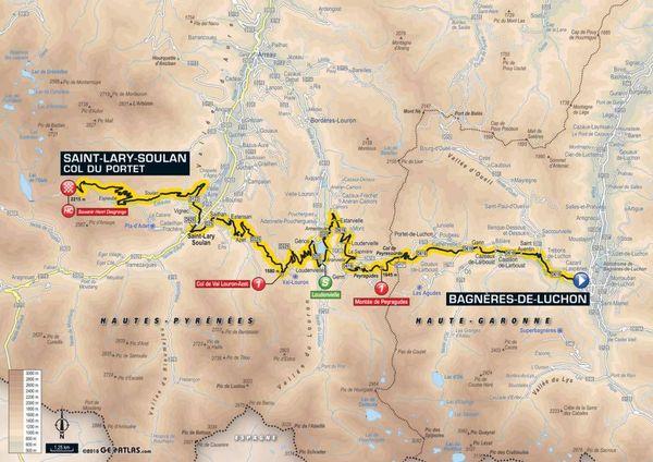 La carte de la 17e étape du Tour 2018