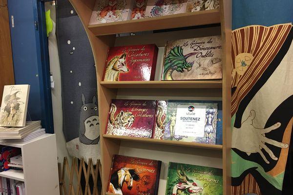 Dans la petite librairie Le Camphrier, dans le centre-ville près des Halles à Strasbourg, Maryline Weyl a un présentoir juste pour ses grimoires.