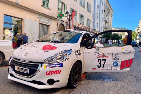 Le véhicule du duo Gaffayoli-Lazzarini.