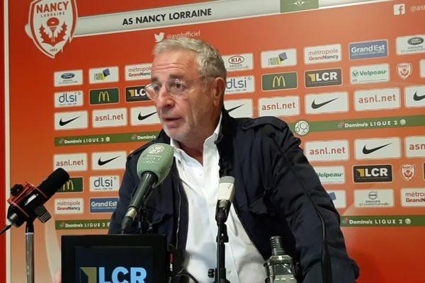 Jean-Michel Roussier, le président de l'AS Nancy-Lorraine avait vivement condamné les chants homophobes proférés au stade Marcel Picot face au Mans