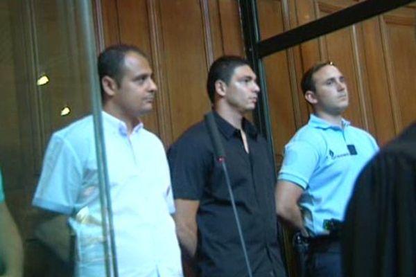 Antoine Heleria et Jean Joseph Salguero dans le box des accusés devant la cour d'assises de l'Hérault - 1er janvier 2015