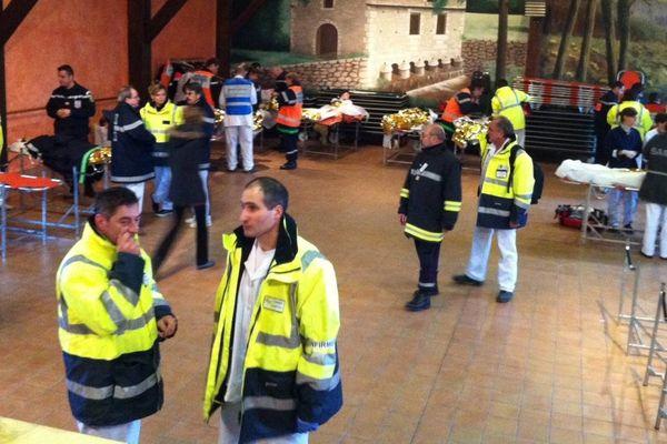 A Veyrac, un exercice de sécurité civile implique une centaine d'acteurs de la sécurité civile de la région, le 6 décembre 2012
