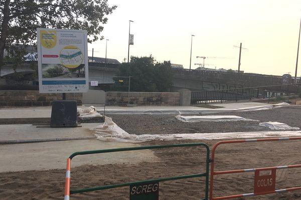 Les travaux d'aménagement des bords de Loire sur l'ïle de Nantes