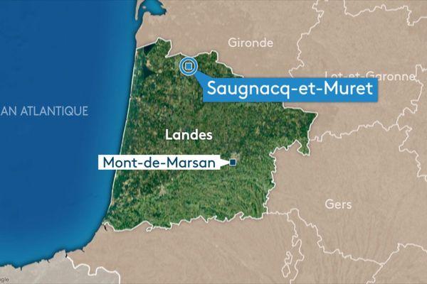 L'accident est survenu à Saugnacq-et-Muret, vers 17 heures.