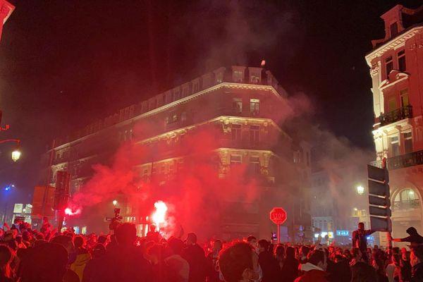Dans les rues de Lille, après le match contre Angers, dimanche 23 mai.