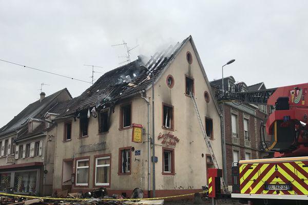 Incendie au coeur d'Haguenau.