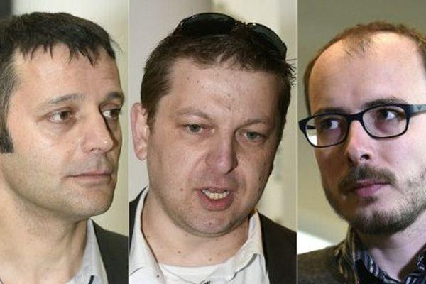 Le journaliste français Edouard Perrin, le messin Raphaël Halet et le Vosgien Antoine Deltour, tous trois accusés du scandale LuxLeaks.