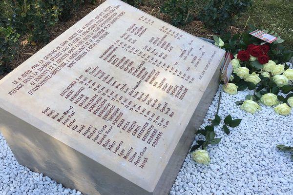 La ville de Lyon inaugure ce lundi matin une nouvelle stèle en hommage aux 44 enfants raflés