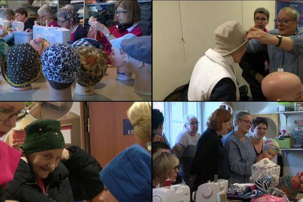 """L'association """"Les chapeaux de Martine"""" confectionne et distribue gratuitement des chapeaux pour les femmes atteintes d'un cancer"""