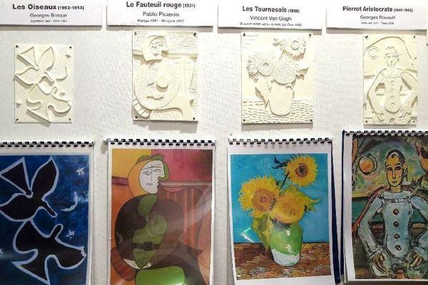 Braque, Picasso, Van Gogh et Rouault deviennent accessibles aux aveugles