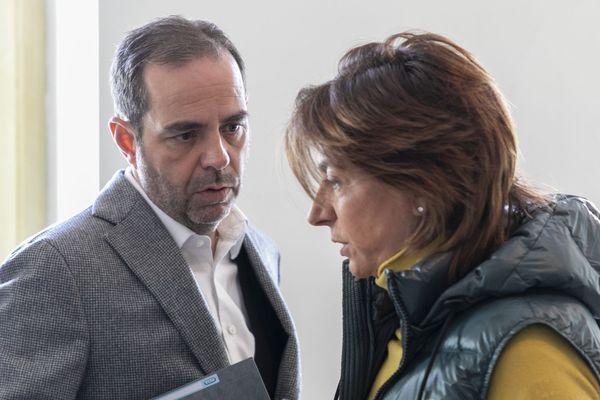 Martine Vassal, tête de liste LR pour les municipales à Marseille avec Yves Moraine maire sortant 6e/8e arrondissements (mars 2020)