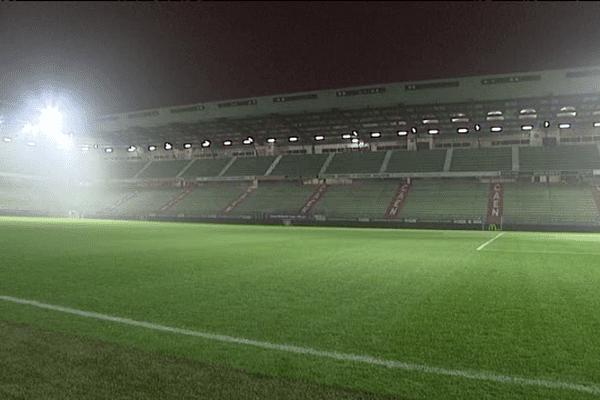 Le Stade d'Ornano vide le 14 mars dernier alors que le match Caen-Nîmes devait se jouer