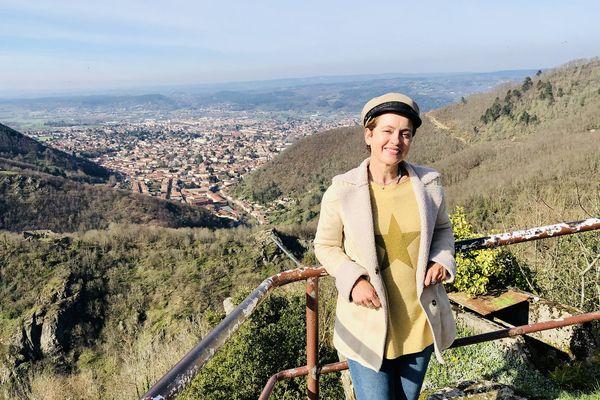 Sophie Jovillard sur les hauts de Mazamet
