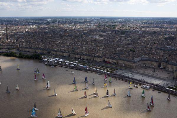 La fête du fleuve et les bateaux de la Solitaire à Bordeaux ( 2015)