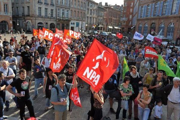 La manifestation toulousaine de jeudi en réaction à la mort de Clément Méric