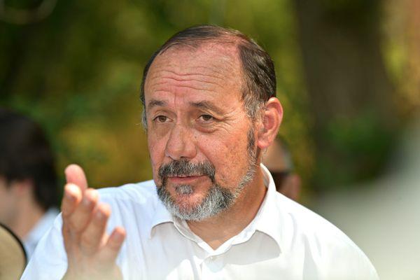 Marc Gaudet, président sortant du conseil départemental, réélu à Pithiviers.