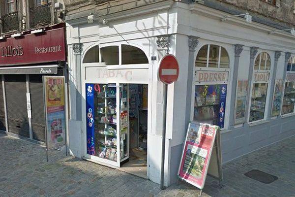 La tentative de braquage a eu lieu ans un bureau de tabac situé dans le Vieux-Lille à 14h.