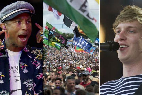 Une semain avant leur venue Main Square, Pharrell Williams et George Ezra ont joué à Glastonbury.