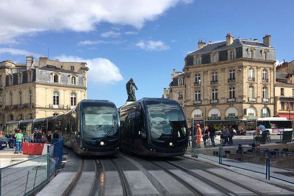 Le tramway effectue des essais sur le tronçon Quinconces - Mairie du Bouscat