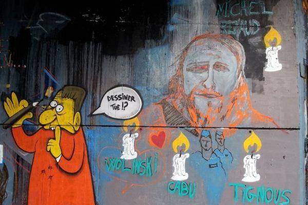 """""""Dessiner tue """", l'hommage aux dessinateurs et journalistes de Charlie Hebdo"""
