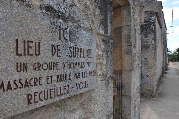 Oradour-sur-Glane lieu de massacre où périrent 642 personnes dont 500 femmes et enfants le 10 juin 1944