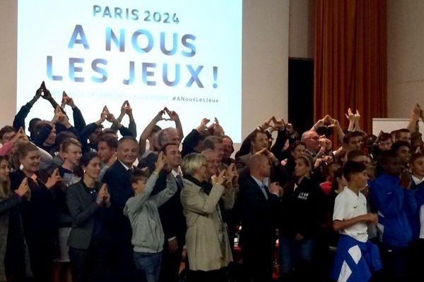 Réunis au Creps de Reims, les sportifs champardennais célèbrent l'attribution des Jeux Olympiques 2024 à Paris