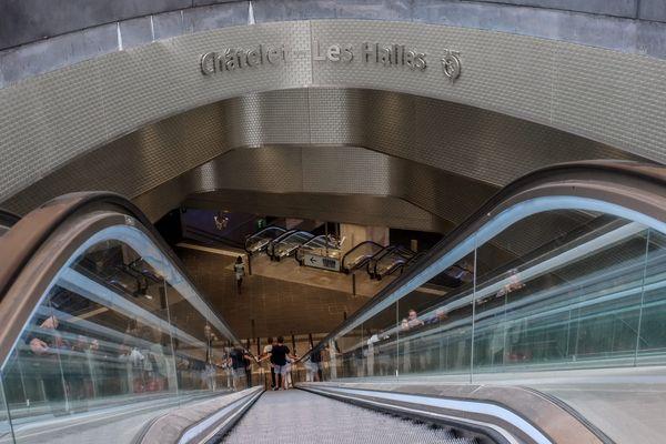 La station Châtelet-Les Halles, à Paris.