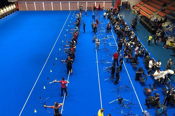 Nîmes : 1.200 archers participent à la 4e manche de la Coupe du monde de tir à l'arc - 18 janvier 2019.