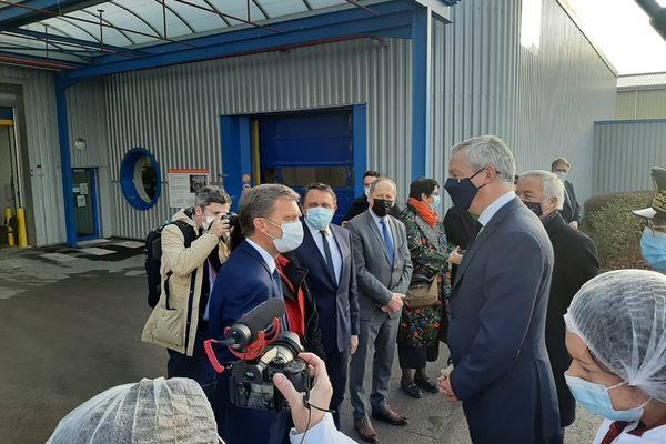 Le ministre est arrivé aux alentours de 9h ce vendredi matin à Chenôve.