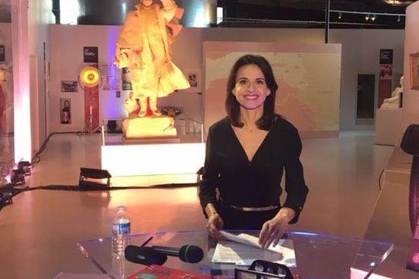 Carla Carrasqueira sur le plateau du JT installé à Meaux