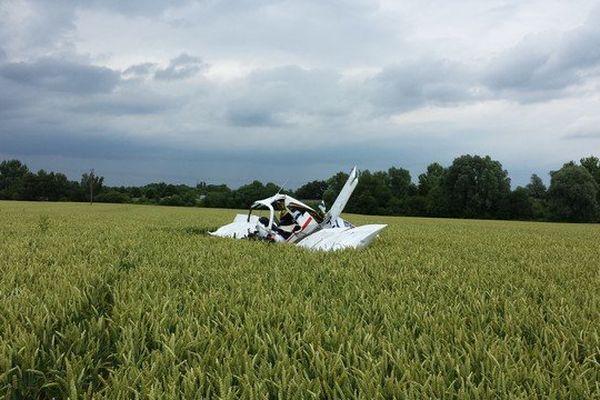 L'avion s'est écrasé en plein champs à la sortie de Saultain au sud  de Valenciennes