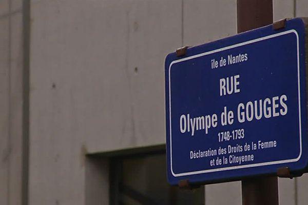 La rue Olympe de Gouges, sur l'Ile de Nantes, fait partie des 100 voies qui portent des noms de femmes, sur 3 000 rues au total.