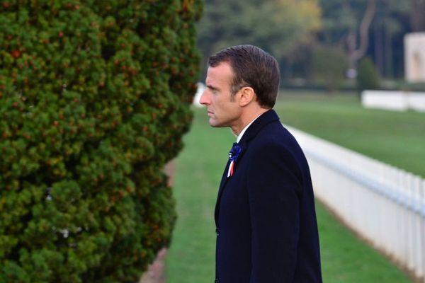 Emmanuel Macron à l'ossuaire de Douaumont dans la Meuse, le 6 novembre 2018