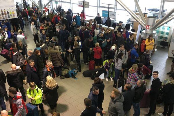 Le samedi 29 décembre 2018, 8000 passagers ont transité par l'aéroport de Chambéry