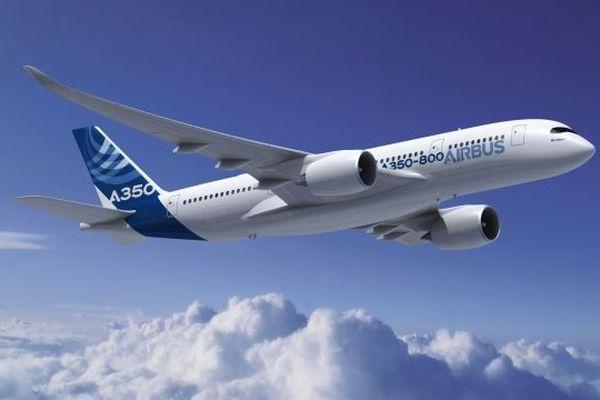 Image de synthèse de l'A350 dans sa version 800