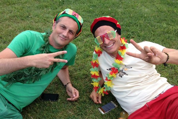 Festivaliers lors de l'édition 2015 du Reggae Sun Ska.