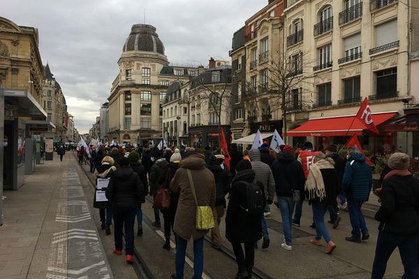 La marche a traversé le centre-ville rémois.