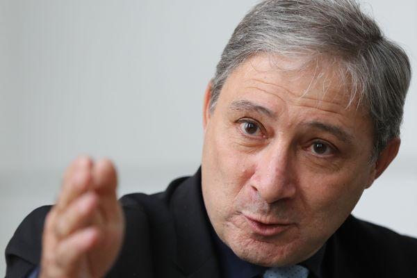 Le procureur de la République de Nice, Jean-Michel Prêtre, lors d'une conférence de presse au Palais de justice de Nice, le 19 janvier 2017