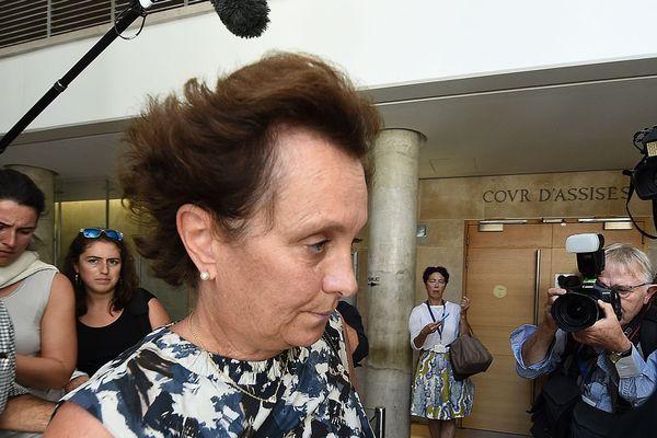 Sylvia Ratowsk, la fille d'Hélène Pastor, à Aix-en-Provence, ce vendredi.