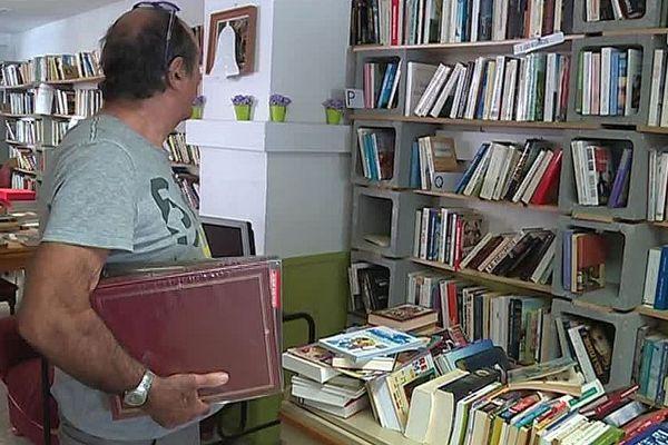 Perpignan - la librairie du Secours populaire - octobre 2018.