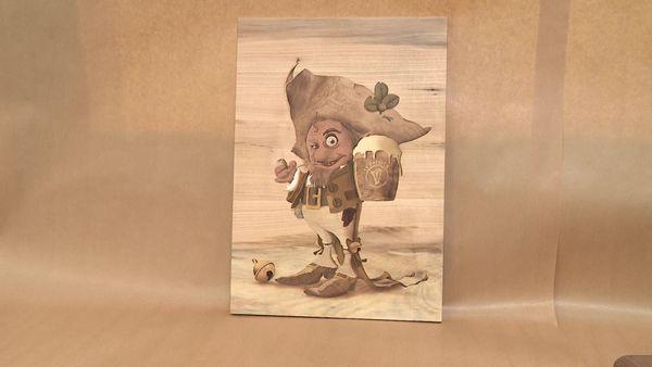 Un thème imposé : un lutin, avec un travail sur les ombrages pour donner du relief au personnage