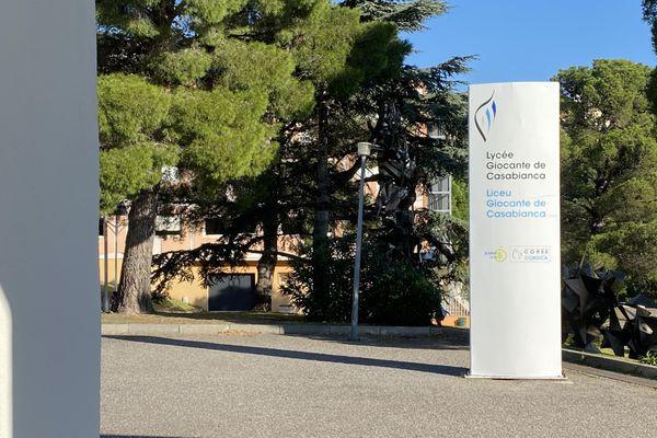 Le lycée Giocante de Casabianca, ce vendredi 6 novembre.