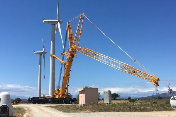 Les huit éoliennes de Rivesaltes, dans les Pyrénées-Orientales, vont être démantelées et remplacées par six éoliennes plus puissantes - 25 mai 2021
