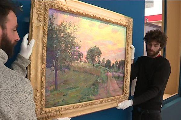 """Démontage de l'exposition """"Nantes 1886, le scandale impressionniste"""""""