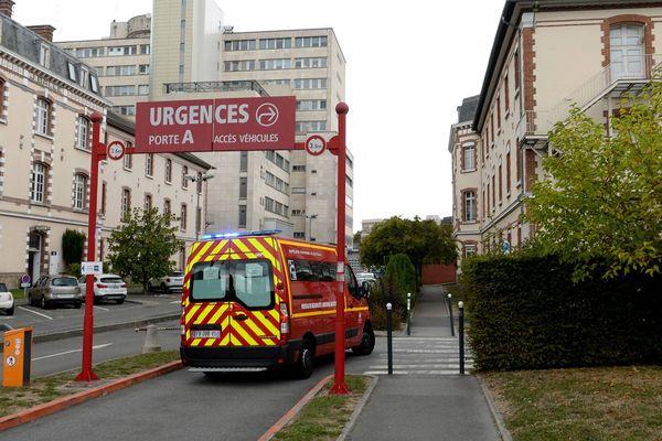 L'entrée des urgences au CHU de Rennes