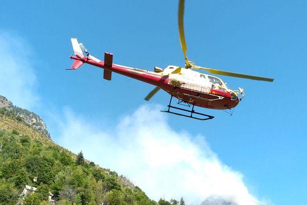 Des renforts sont arrivés ce matin pour lutter contre l'incendie, qui a déjà réduit plus de cinq hectares en cendres